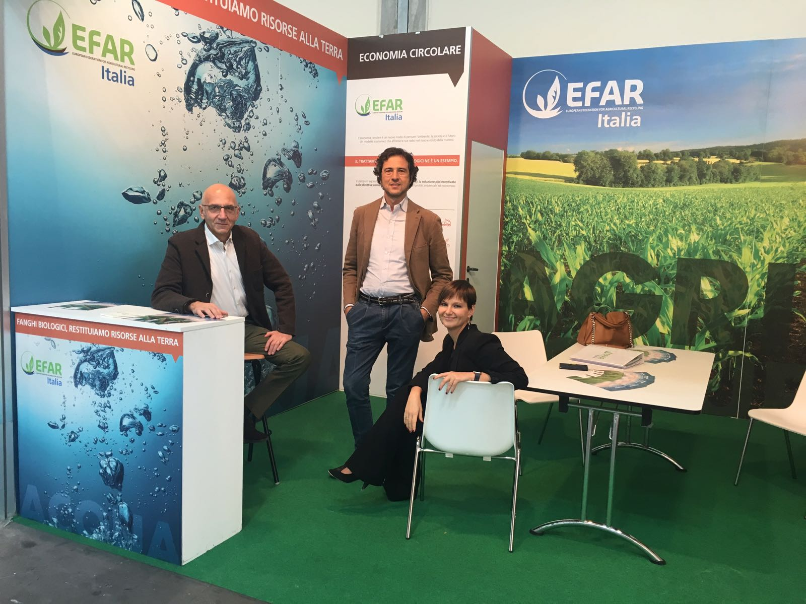 Efar per Ecomondo - Pierfrancesco Visconti Gianmaria Visconti e Michela Allevi
